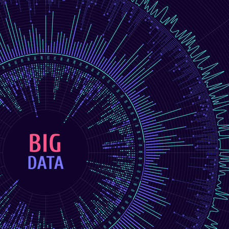 Big data complexity visual representation. Data visualization. Graphic abstract background. Eps10