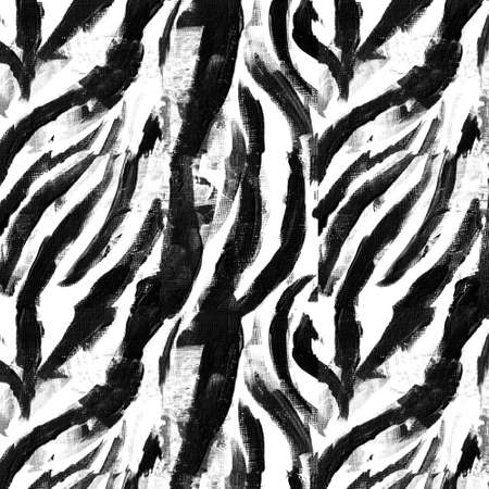 Black and white acrylic zebra pattern for background, wallpaper.