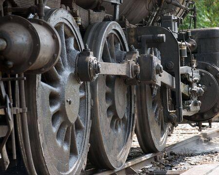 Steam enigine wheels photo