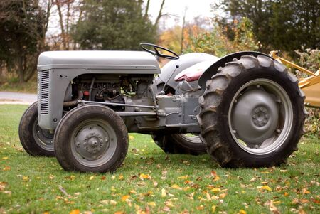 old tractor: Historic Tractor Stock Photo
