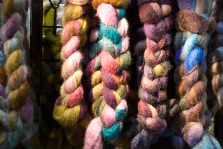 Colorful roving, hanging Stok Fotoğraf
