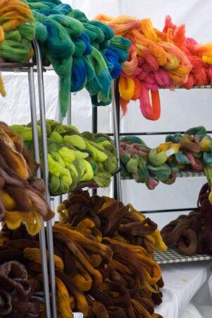 Kleurrijke roving Stockfoto