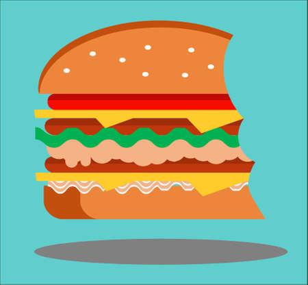ビートのハンバーガー  イラスト・ベクター素材