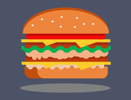 Delicious Burger Ilustração