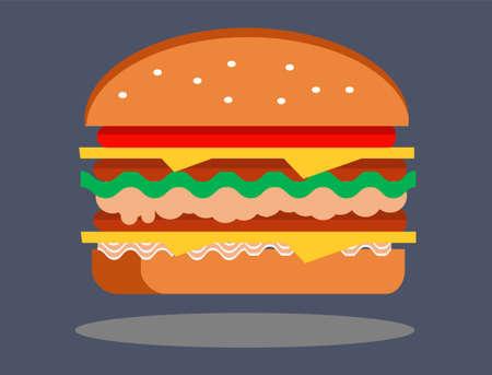 Delicious Burger Illustration