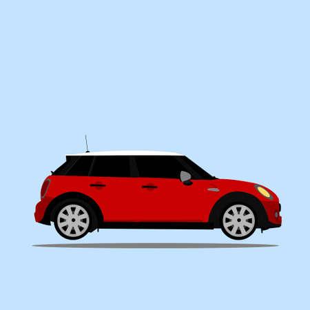 Red Mini Cooper Illustration