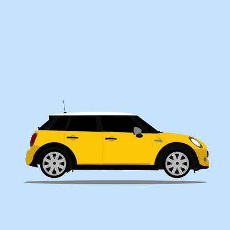 Yellow Car Иллюстрация