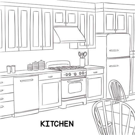 Linee di cucina Archivio Fotografico - 83101574