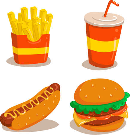 Junk Food Illustration