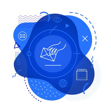 Vote icon on modern background