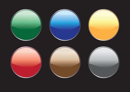 varicoloured: Los botones son varicoloured Vectores