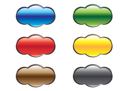 varicoloured: Rounded varicoloured buttons