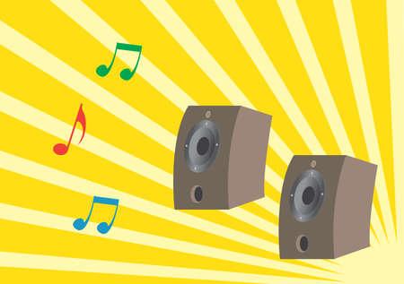 loud speakers: Two loud speakers