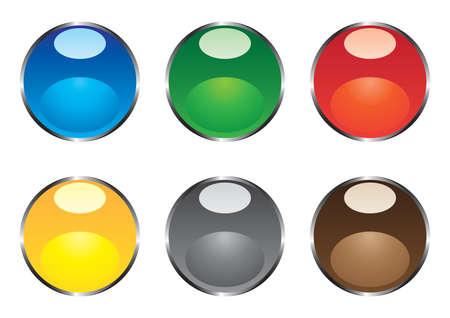 round brilliant: Varicoloured ronda brillante botones