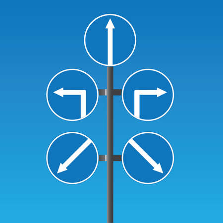 Road signs and pointers Vector