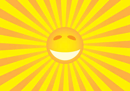 warmly: Sun smiley