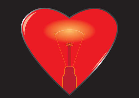 Heart with backlight Vector