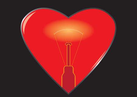 backlight: Heart with backlight Illustration