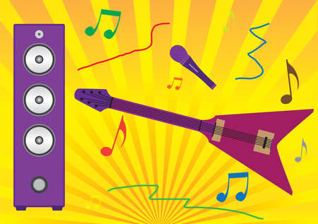 electrically: Musical entertainment Illustration