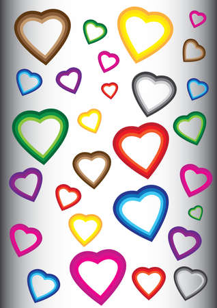 Background with colorful hearts Stock Vector - 5260967