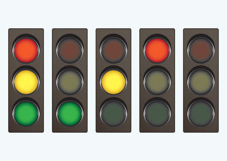 Different traffic light signals Stock Vector - 5299631