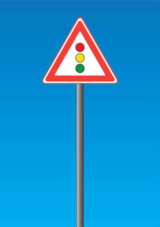 Road sign - traffic light Vector