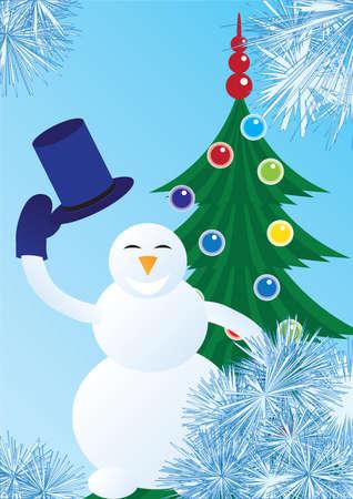 Snowman welcomes Vector