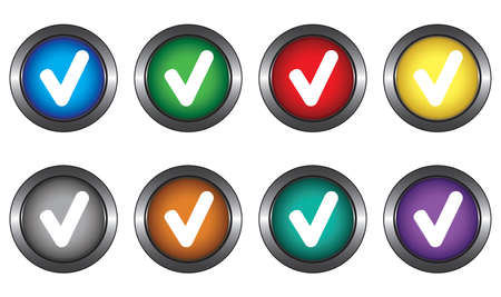 Buttons for website Stock Vector - 6131934