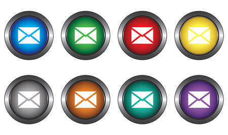 Buttons with the symbol of the message for website Stock Vector - 6131930
