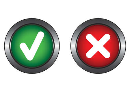 Two system buttons Stock Vector - 6131921