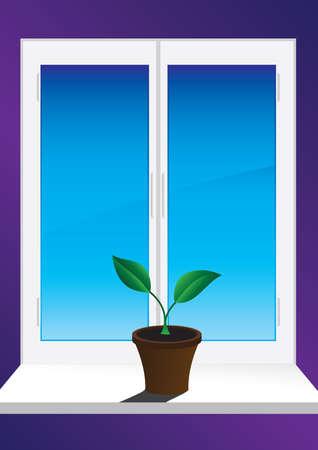 Window Stock Vector - 6131924