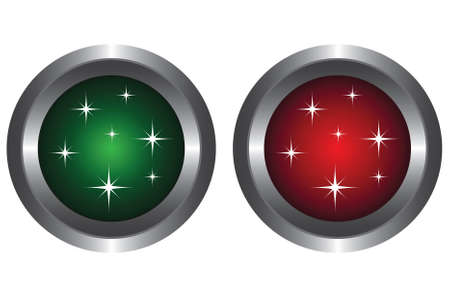 Two buttons with glitter Stock Vector - 6341225