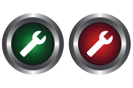 Two buttons with tool Vector