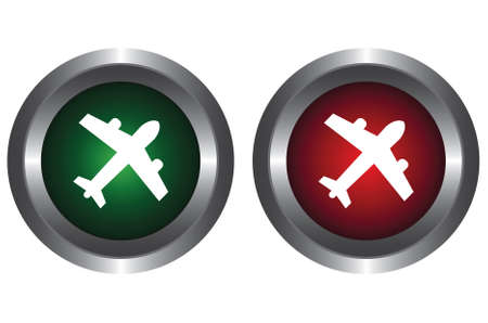 Two buttons with the plane Vector