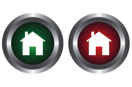 Two buttons with the image of the house Stock Vector - 6341176