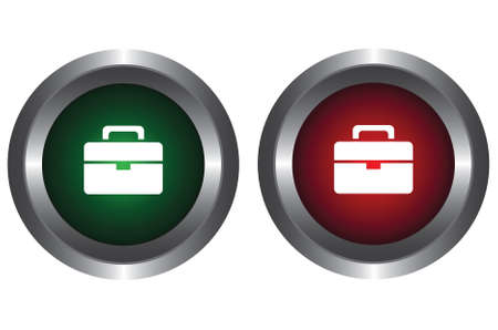Two buttons with a portfolio Vector