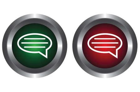 ems: Dos botones con el mensaje