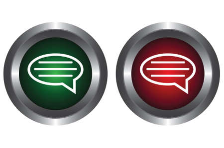 Two buttons with the message Stock Vector - 6341208