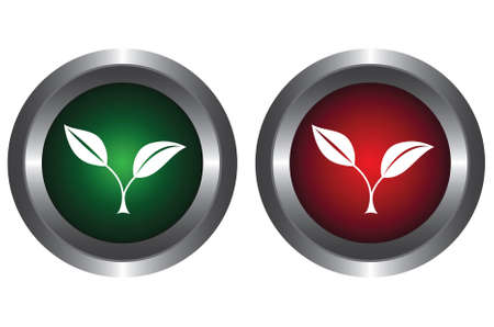 greenpeace: Two buttons with plants