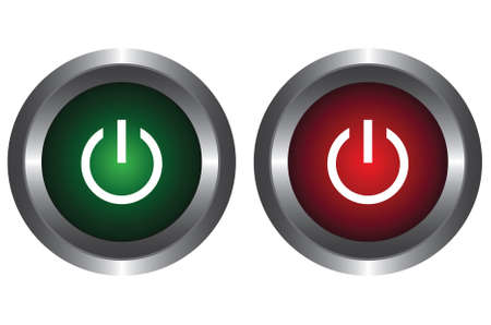 Two buttons with symbol power Vector