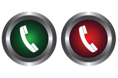 no cell: Dos botones con un tel�fono