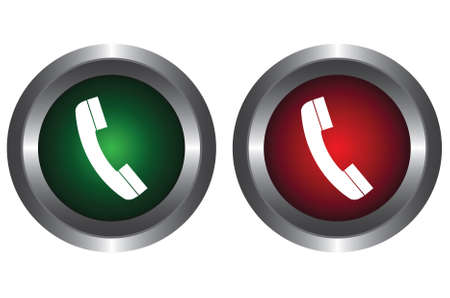 Two buttons with a telephone Vector
