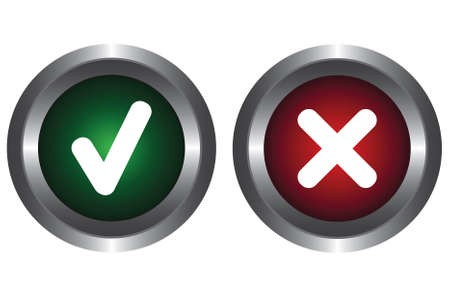 Two buttons with symbols Stock Vector - 6341171
