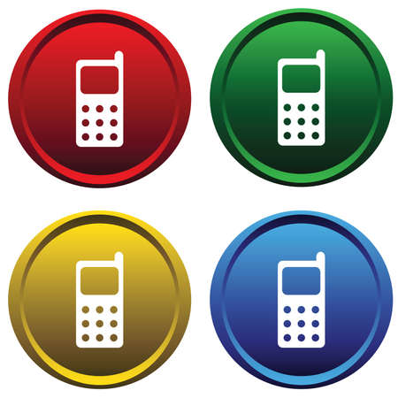 Plastic buttons with cell phone Vector
