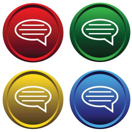 ems: Botones de pl�stico con el mensaje
