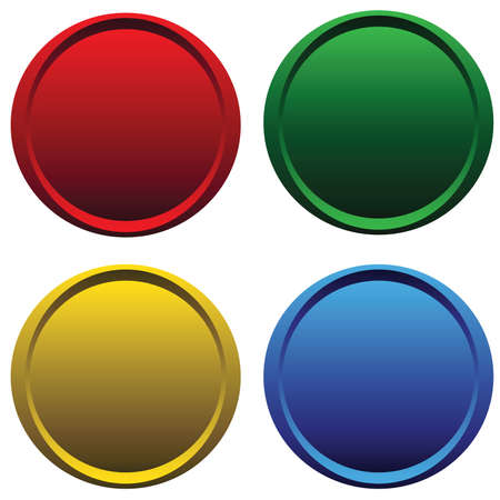 matted: Four plastic buttons Illustration