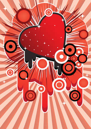 the romanticism: Abstract image with a heart