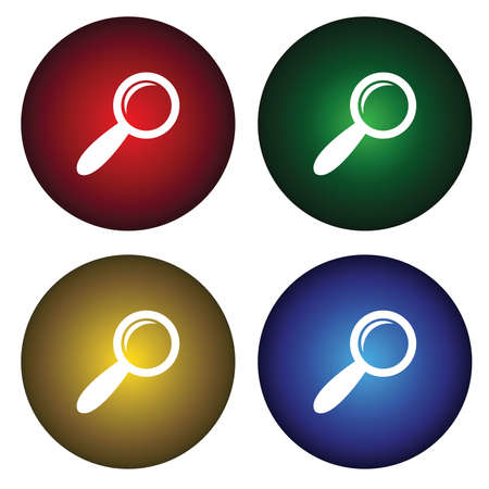 Four buttons with the magnifying glass