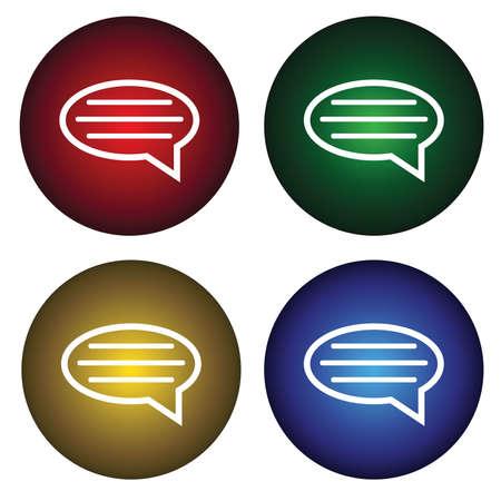 ems: Cuatro botones con el mensaje  Vectores