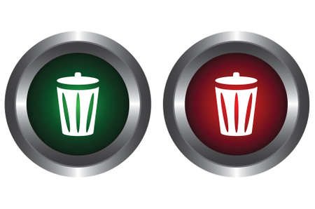 Two buttons with trolley Vector